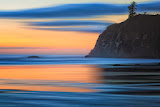 """Ruby Beach Blue and Gold"" by Roy Kropp -- 2nd Place Print"