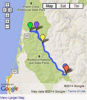 Orick California Map.Scenic Driving Tours