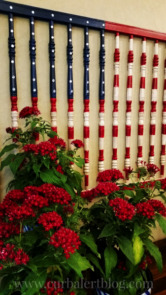 American Flag Crib Rails