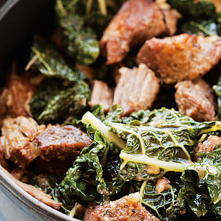 Garlicky Pork Shoulder with Greens