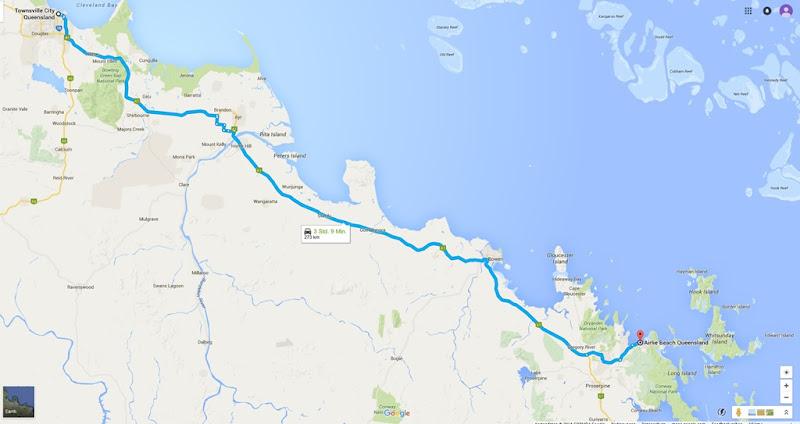 z42 von Townsville nach Arlie Beach