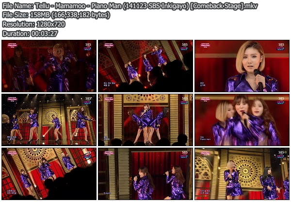 Download [Perf] Mamamoo – Piano Man @ SBS Inkigayo 141123