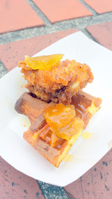 At Brunch Village for Feast 2015 Simpatica pleased the crowd with their Fried Chicken and Waffles with Green Tomato Syrup