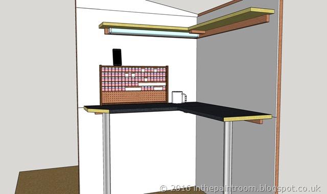 The Paint Room Sketchup Model V2