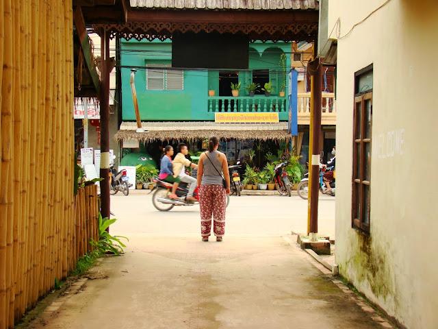 Calle central de Luang Nam Tha
