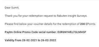 rakuten insight payment proof