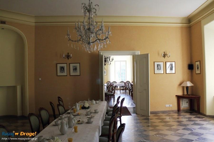 Pałac w Kurozwękach - wnętrza pałacu