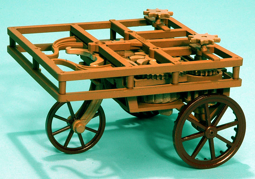 Self Propelled Cart >> Scale Model News Leonardo Da Vinci Automobile Self Propelling Cart