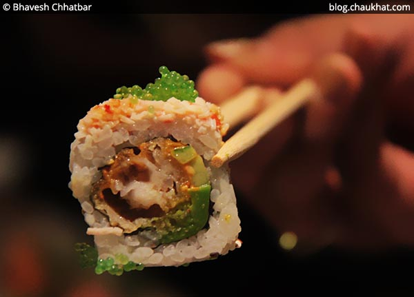 Sriracha Blush Sushi at Shizusan (The Asian Bistro) in Phoenix Market City at Viman Nagar area of Pune