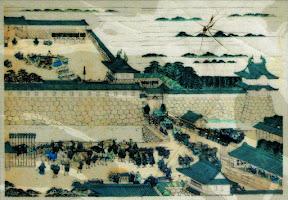 旧江戸城:橋のたもとにあるのが元の同心番所