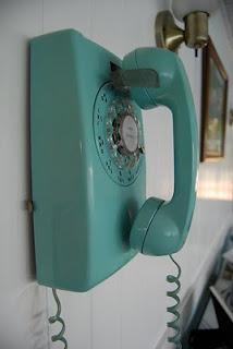 telefono pared vintage turquesa