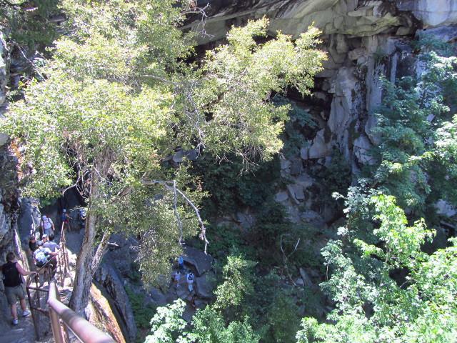 graite steps and hand railings