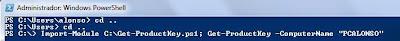 Cómo ejecutar el script PowerShell para mostrar la clave de producto (product key) de Windows