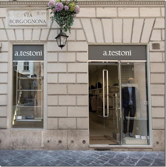 a.testoni - Vetrina Boutique Uomo Roma