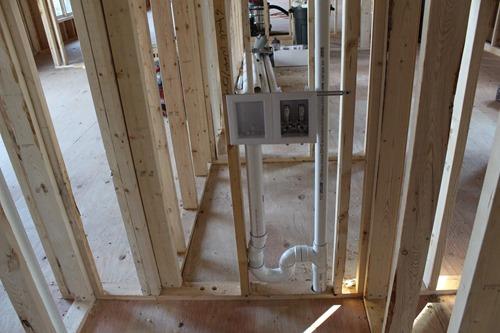 plumbing upstairs