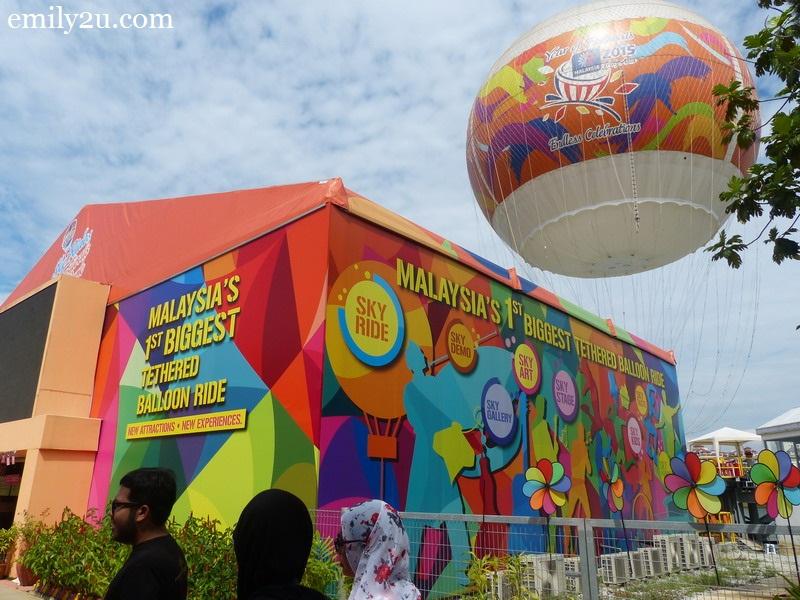 Malaysia's 1st Biggest Tethered Balloon Ride, Putrajaya