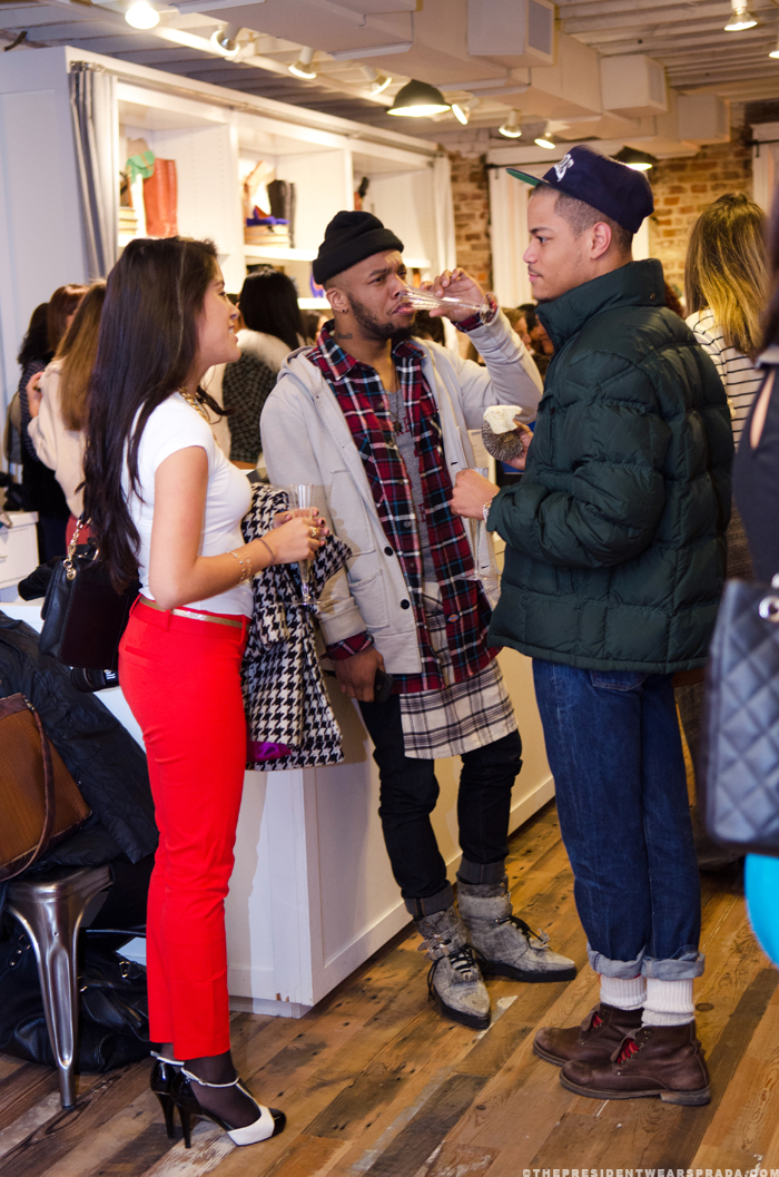 Alejandra, Marc, Jamal at the CapFABB meetup at Madewell