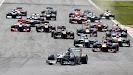 Start into 1st corner, Hamilton leads
