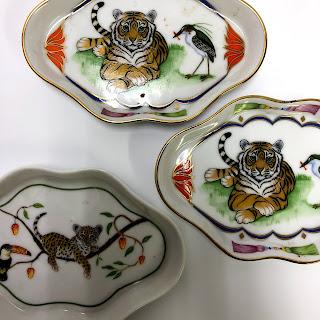 Lynn Chase Designs Tiger Raj Trinket Dish Trio
