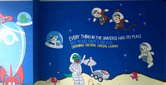 Kreasi Lukisan Mural Sekolah Sederhana