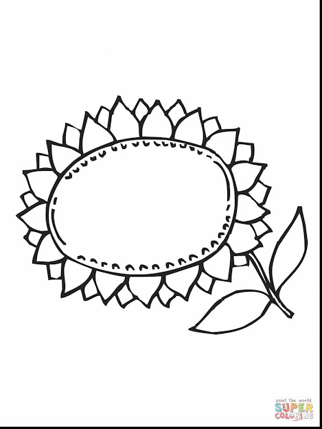 Incredible Sunflower Coloring Pages Printable With Sunflower Coloring Page  And Sunflower Coloring Pages Free
