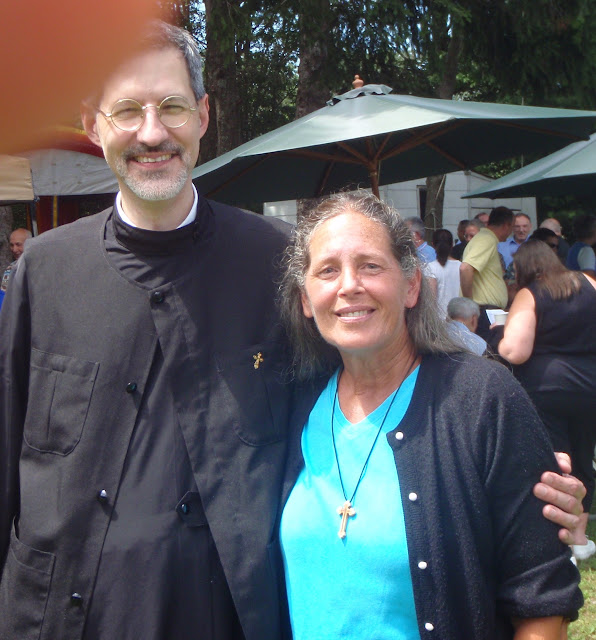 Fr. Michael and Kathy.