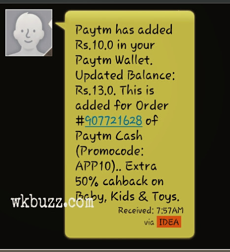 Paytm yippee coupons
