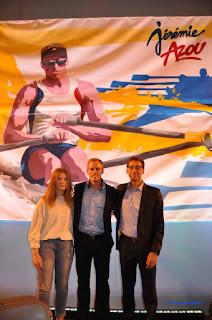 AG ASM avec Jérémie Azou, Frédéric Andolfi et Caroline Néré.