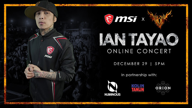 Wilabaliw Frontman Ian Tayao to headline MSI ONLINE YEAR END PARTY