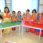 Decorative Rakhi Thali & Gift wrapping Activity (Sr.KG.) 8-8-14
