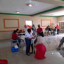 VICENTE NOBLE: Dirección Provincial de Salud realiza jornada de vacunación contra el COVID-19 a Adultos Mayores.