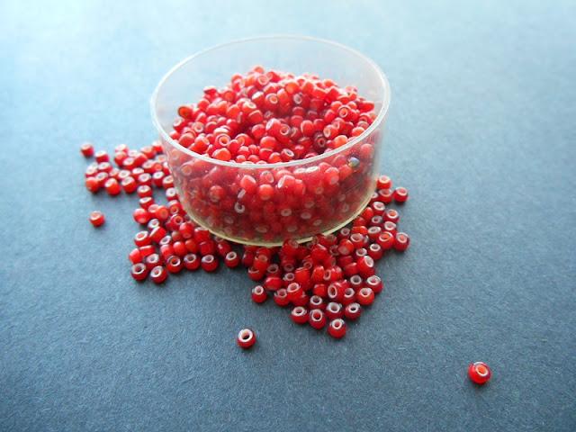 Vintage Venetian White Heart Beads