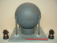 Large spherical storage tank Industrial Science Fiction war game terrain and scenery - UniversalTerrain.com