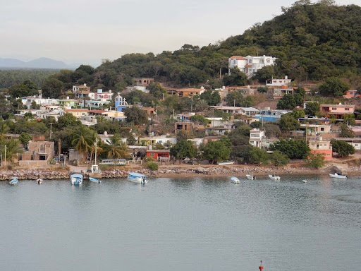 Mazatlan-fishing-village - Houses along the waterfront of Mazatlan, Mexico, as seen from Ruby Princess.