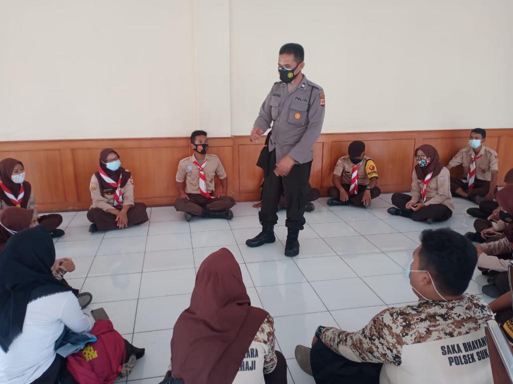 Sat Binmas Polres Majalengka Sosialisasikan Prokes dan 3M Kepada Pramuka Saka Bhayangkara