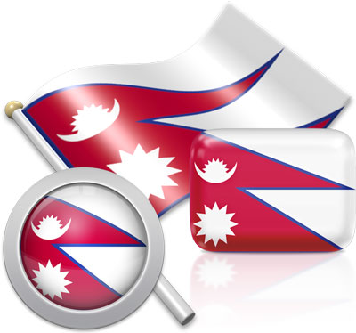 Nepali flag icons pictures collection