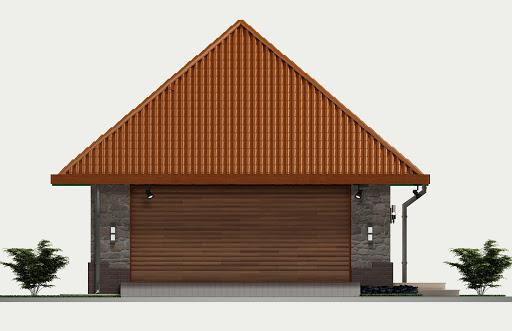 Garaż G3 - Elewacja przednia
