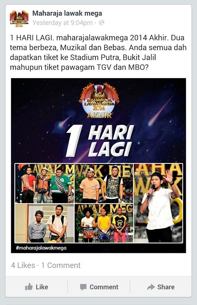 Tonton Maharaja Lawak Mega (MLM) 2014 Final Secara Langsung Di Pawagam Malam Ini!