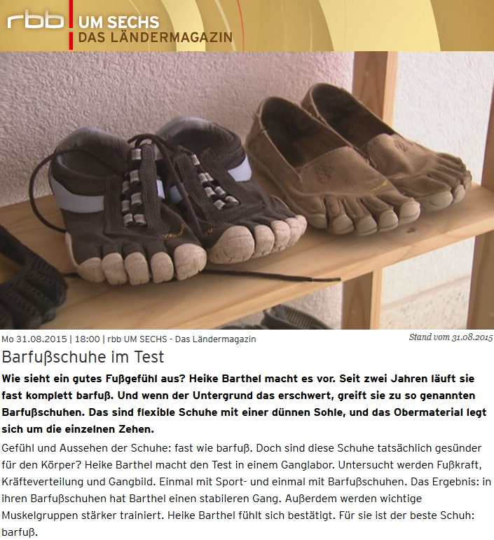 Barfußschuhe im Test