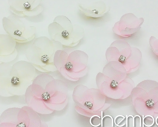 Chempaka Flower | Fabric Flowers by Art of Dazzling Beads