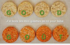 Test mini-galettes de riz spéciales bébé Good Goût