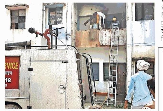 #Uttarpradesh News नशे के लिए रुपये न देने पर बेटे ने घर में लगा दी आग