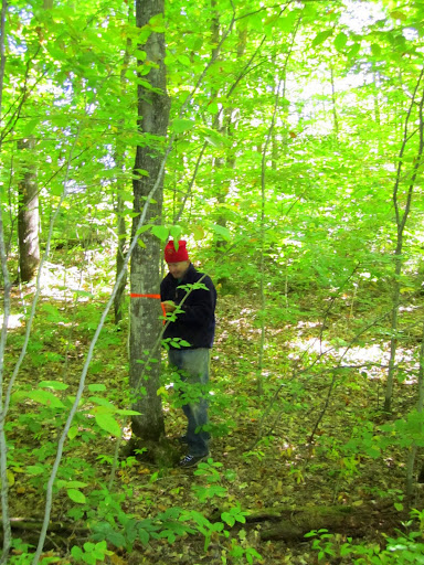 Marking new loop for snowshoe trail