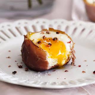 Prosciutto, Egg and Brioche Cups.