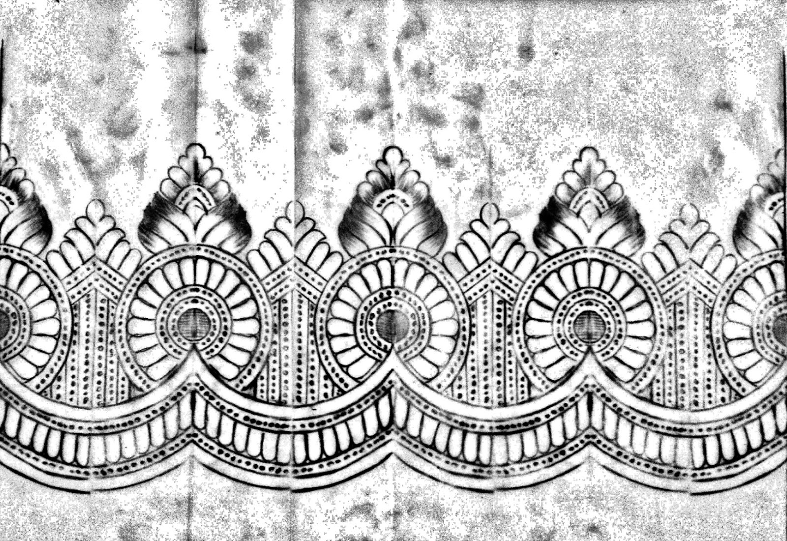 Pencil sketches new saree border design picture free download/embroidery design patterns free download .