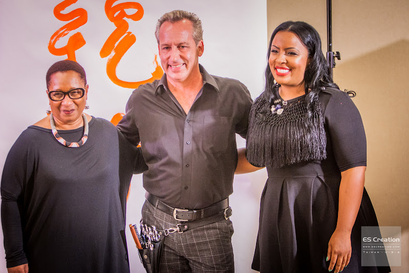 (Left to right) The backstage wonders Ava Byrd, James Griffith, and Aminah Mitchell. Photo by Simon Fu of ES Creation.