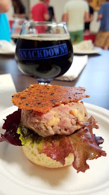 Snackdown 2016 P.R.E.A.M. / Ecliptic Brewing was another favorite pairing of mine, staring a Beef Tartare with flavors of cheeseburger with Ecliptic's chocolatey and malty Capella Porter