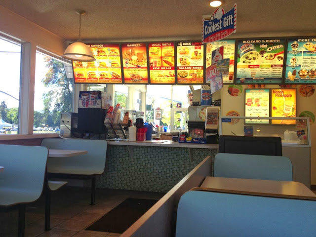Dairy Queen in Ellensburg, WA just of the Central Washington State University campus.