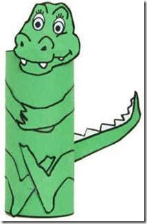 cocodrilo hecho con tubo papel higienico (1)