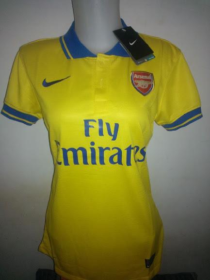 Jual Jersey Cewek Arsenal Away Terbaru 2014